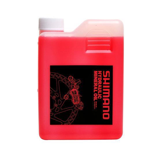 שמן שימנו למערכות בלימה הידראוליות. תכולה 1 ליטר Shimano Hydraulic Mineral Oil