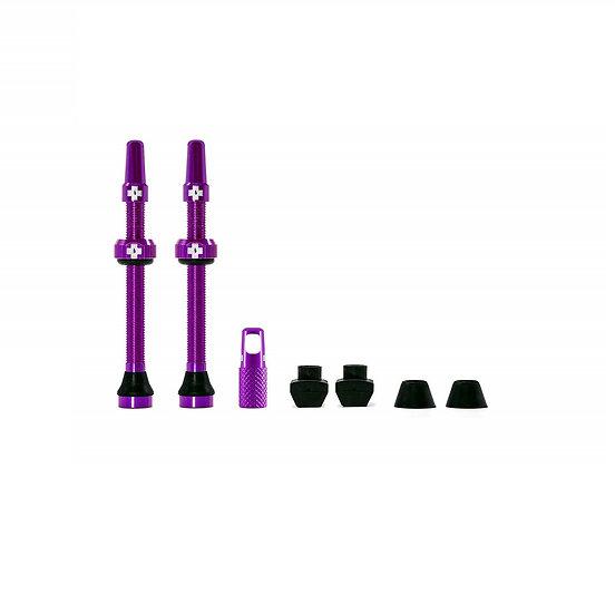 Muc-Off Tubeless Presta Valve Purple (Pair) סט ונטילים סגול לטיובלס