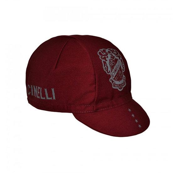 Cinelli Crest Burgundy Cap כובע רכיבה
