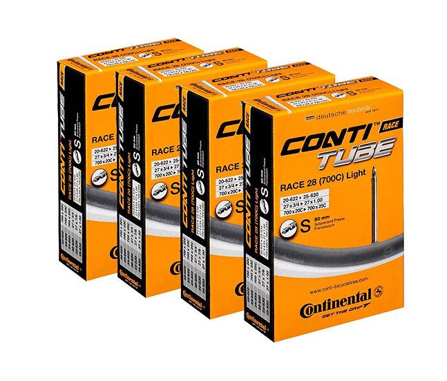 Conti tube 700X20/25  רביעיית פנימיות כביש ארוזות ונטיל 80ממ