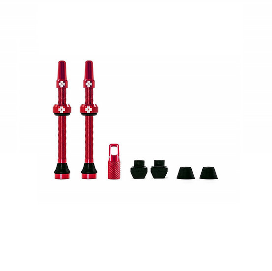 Muc-Off Tubeless Presta Valve Red (Pair) סט ונטילים אדום לטיובלס