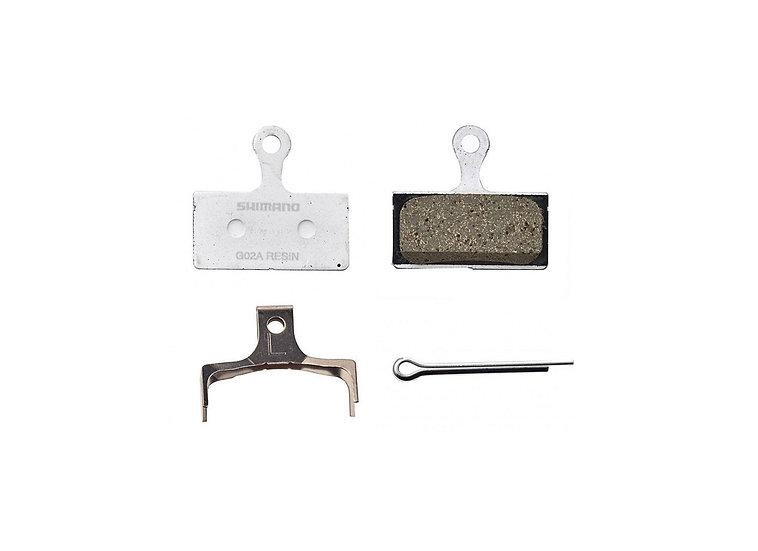 Shimano G02A Resin Pad & Spring W/Split Pin רפידה