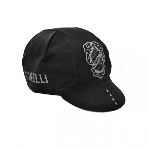 Cinelli Crest Black Cap כובע רכיבה
