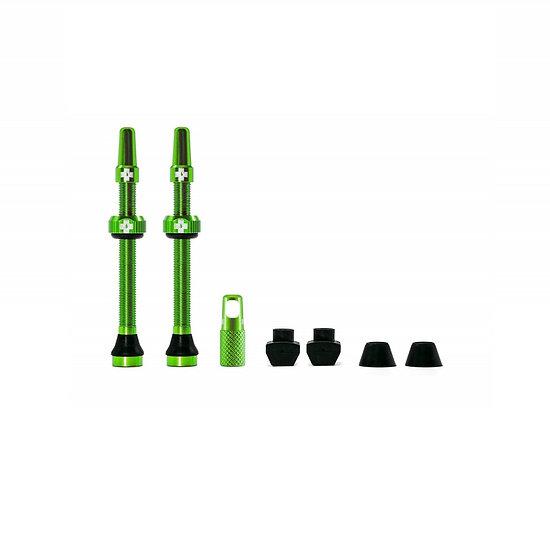 Muc-Off Tubeless Presta Valve Green (Pair) סט ונטילים ירוק לטיובלס