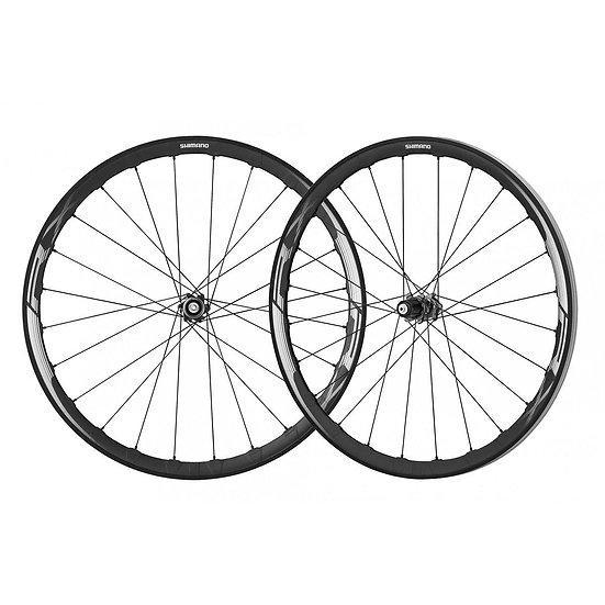 Shimano (WHRX830) 10-11 Spd Center Lock Wheelset Tubeless סט גלגלים