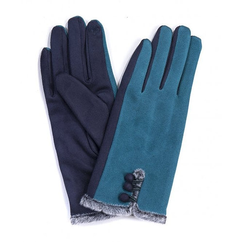 Teal Gloves withOne Finger Touchscreen