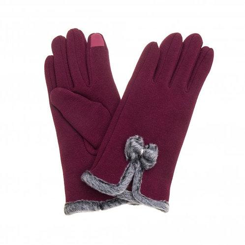 BurgundyTouch Screen Gloves
