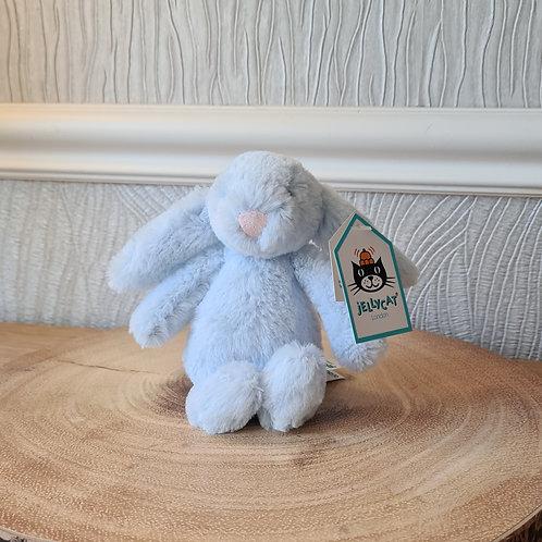 Blue Jellycat Tiny Bashful Bunny