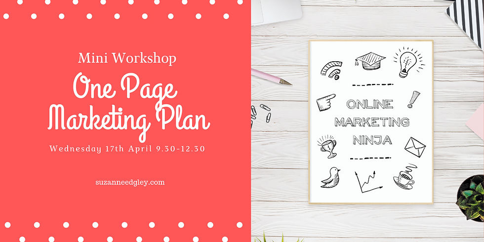 Your One Page Marketing Plan