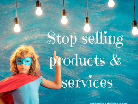 Is it time to stop selling products and services?