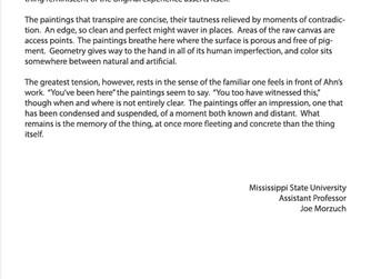 Review by Joe Morzuch