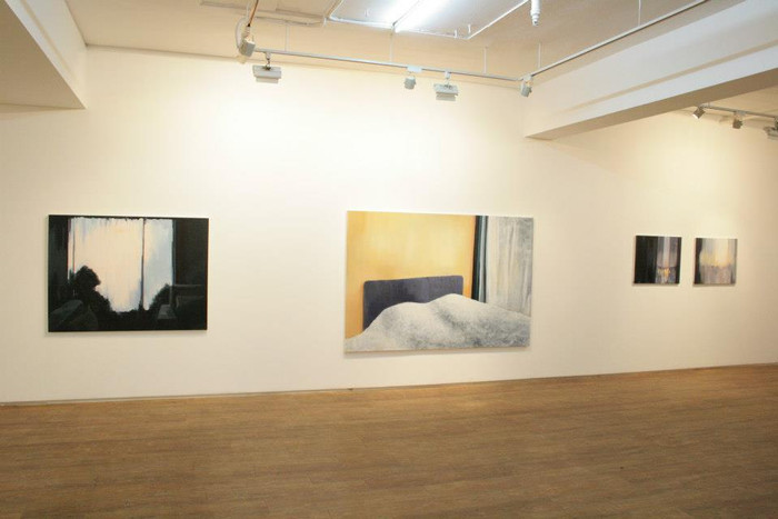 Installation shot from the First solo Exhibition 'From Here' at Insa Gallery in 2012