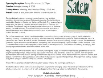 Trestle Gallery Resident Show: Unrestricted