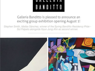 Group Exhibition Aug 1st through Sep 30th at Banditto Gallery in Tuscany, Italy