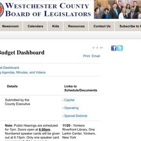 Westchester County Budget - Make Our Voices Heard