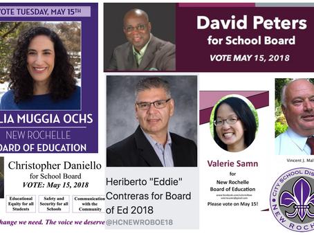 New Rochelle School Board & School Budget Vote - May 15
