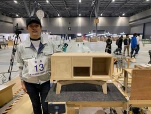第58回技能五輪全国大会2020家具部門にて 出雲木工部 田中基貴が敢闘賞を受賞いたしました