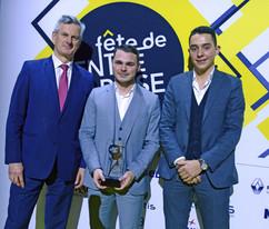 Pierre Fanneau (Le Progrès), Rémy Pitaval et Lucas Gebhardt (Mobee Travel)