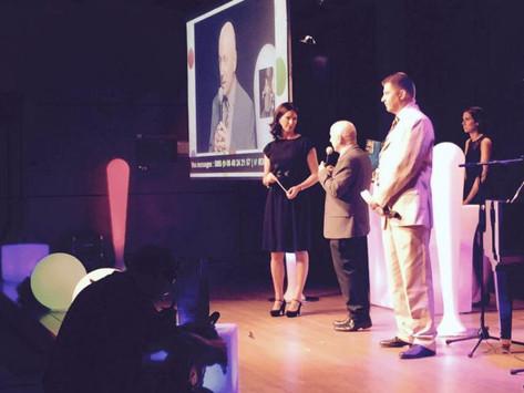 Anne Glemarec (Journaliste Euronews à gauche), Jean-Claude Lassalle (Directeur Délégué du Groupe Progrès en charge des événements, au centre), François Guttin-Lombard (Journaliste Le Progrès, à droite)