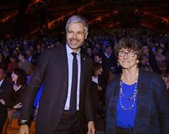 Laurent Wauquiez (La Région AURA) et Isabelle Autissier