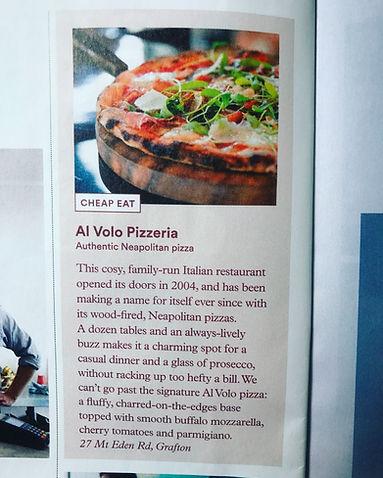 paper boy magazine article al volo pizzeria