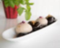 profiterols italian dessert chocolate and gelato