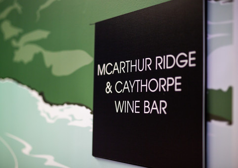 Caythorpe and McArthur Rigge Wine Lounge Fashion Week 2018