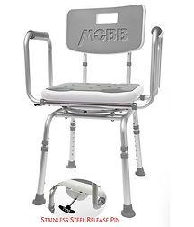 MHSC 2 Chaise de bain pivotante avec app