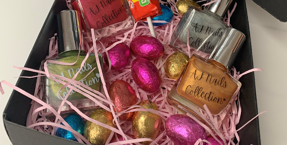 Easter Gift Box - (Linear Holographic)