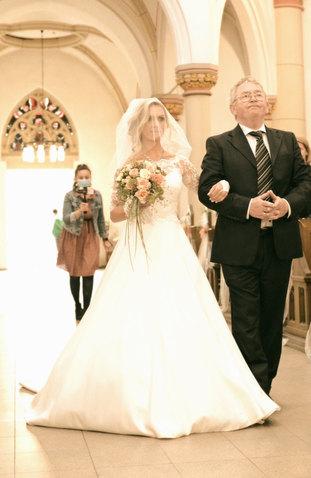 Kirchliche Trauung Hochzeit Brautvater
