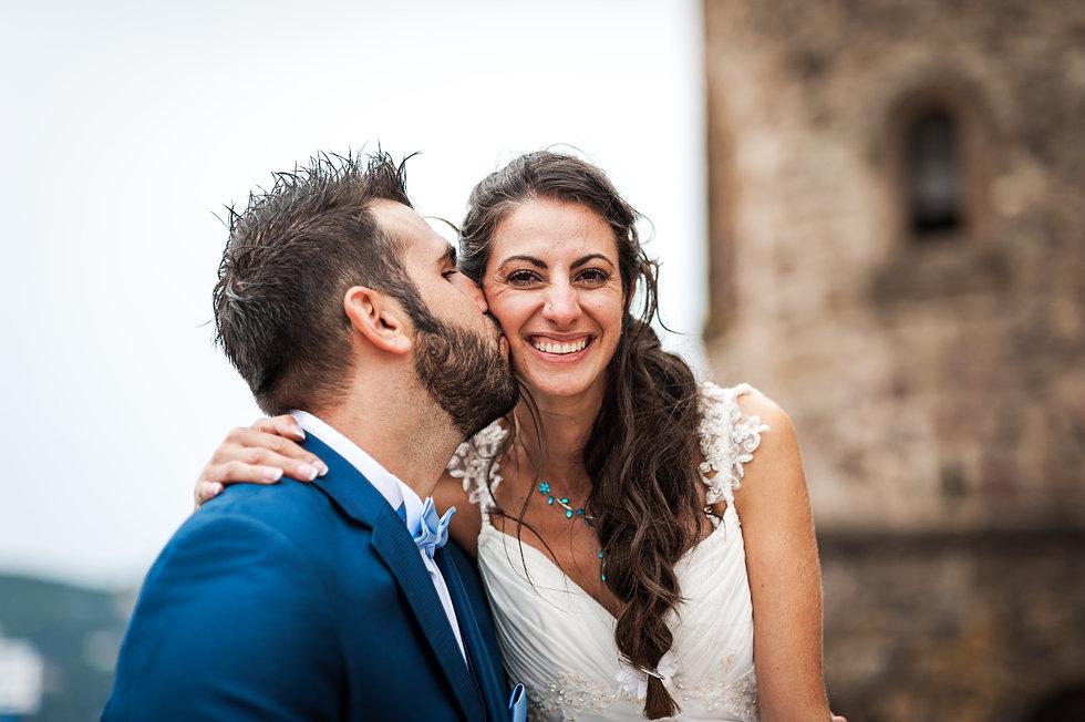photo d un jeune couple lors de leur maraige en région PACA, Alpes Maritimes, Var