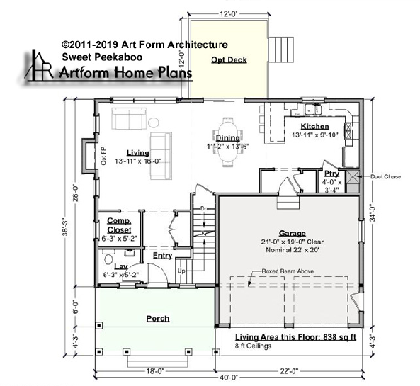 Sweet Peekaboo First Floor Plan