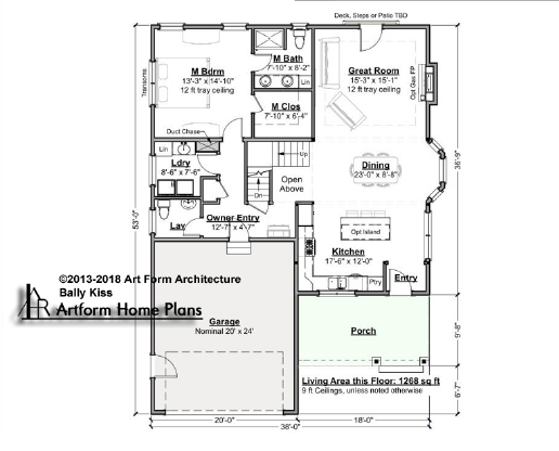 Bally Kiss Cottage First Floor Plan