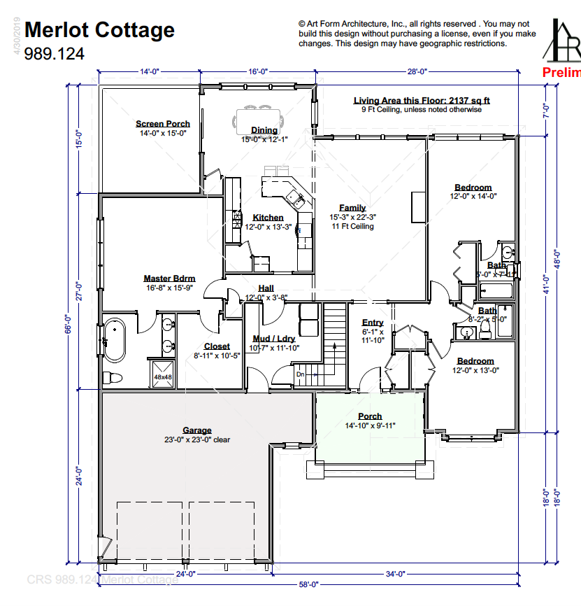 Merlot Cottage Floor Plan