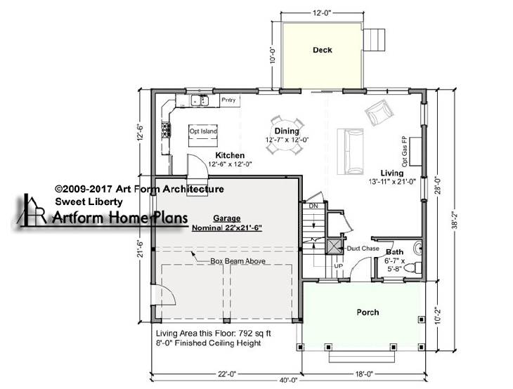 Sweet Liberty First Floor Plan