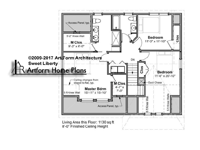 Sweet Liberty Second Floor Plan