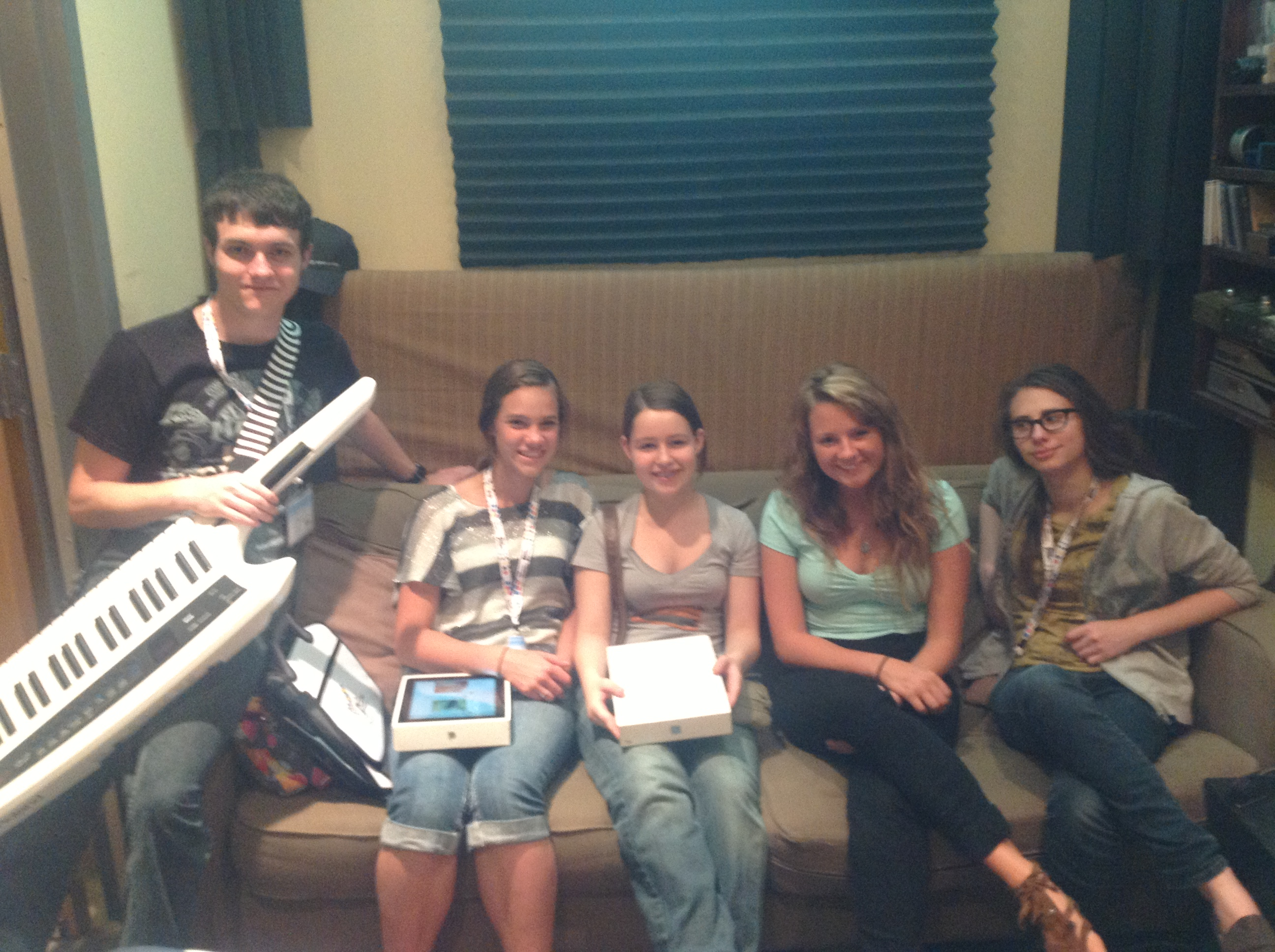 GRAMMY students waiting to record