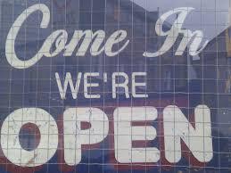 C'mon In, We're Open!!