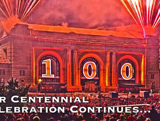 ALL ABOARD!! I'm opening Union Station's Centennial Celebration!!