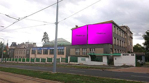 Plzeň - Karlovarská 81 - štít CD HOTEL