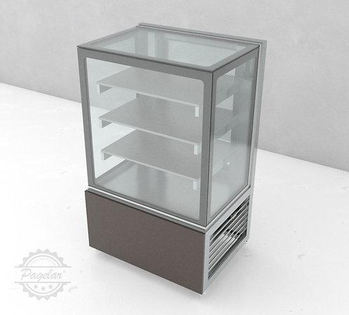 Balcão Refrigerado  Placa Fria Vidro Reto PAGELAR 800MM