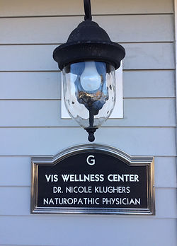 Vis Wellness Center Doctor Nicole Klughers Naturopathic Physician Sign