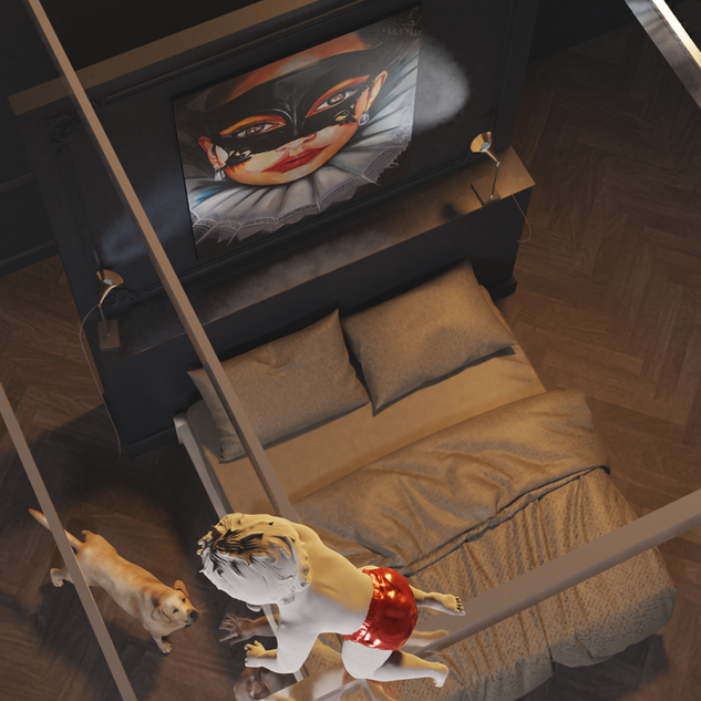 Transparent bedroom