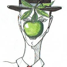 Schizzo Magritte al femminile
