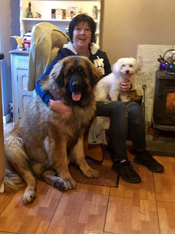 Carole on a visit with Merlin & Ange