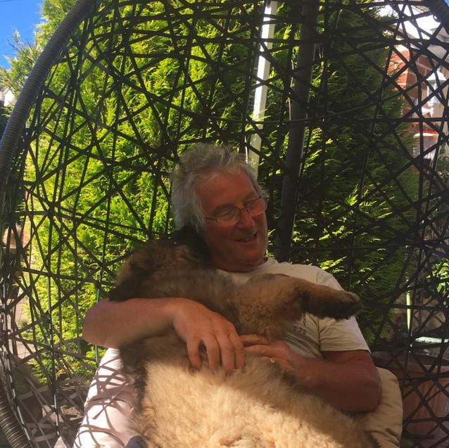 Cuddles from Dad