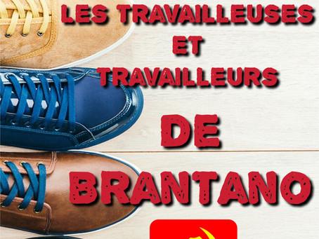 Solidarité avec les travailleuses/eurs de Brantano-Solidariteit met de arbeiders van Brantano