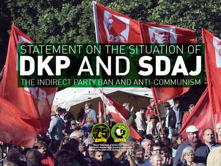 Déclaration sur la situation du DKP et de SDAJ, l'interdiction indirecte du parti et l'anticommunism