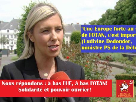 Non à l'OTAN, non à de nouvelles casernes !Pour des logements sociaux et des soins de santé !