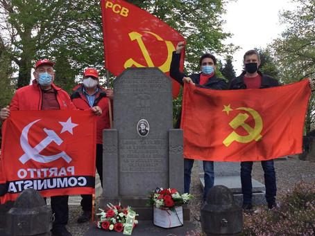 1er mai : hommage aux martyrs de la classe ouvrière. Intervention de F. Visconti, membre du BP du PC